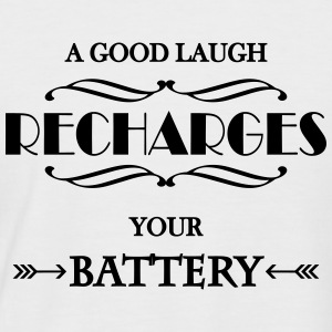 A good laugh recharges your battery T-Shirts - Men's Baseball T-Shirt