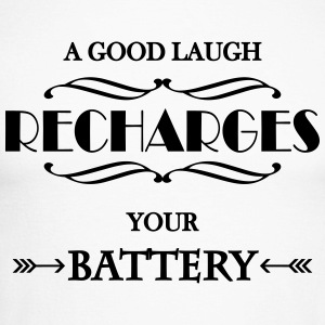 A good laugh recharges your battery Long sleeve shirts - Men's Long Sleeve Baseball T-Shirt