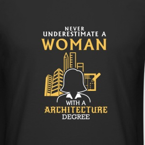 NEVER UNDERESTIMATE AN ARCHITECT! T-Shirts - Men's Long Body Urban Tee