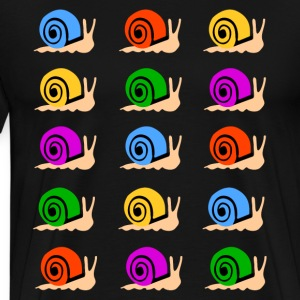colorful snails T-Shirts - Men's Premium T-Shirt