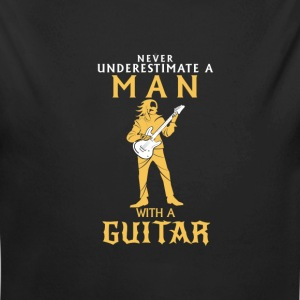NEVER UNDERESTIMATE A MAN WITH A BASS GUITAR! Baby Bodysuits - Longlseeve Baby Bodysuit