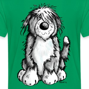 Söt Bearded Collie T-shirts - Premium-T-shirt barn