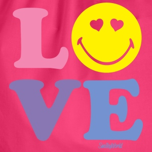 SmileyWorld Love Liebe Herzchenaugen Smiley - Turnbeutel