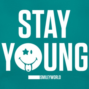 SmileyWorld Reste Jeune Stay Young - T-shirt Femme