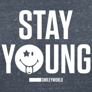 SmileyWorld Stay Young - Women's V-Neck T-Shirt