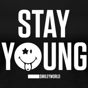 SmileyWorld Reste Jeune Stay Young - T-shirt Premium Femme