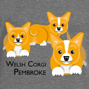 Welsh Corgi Pembroke Hoodies & Sweatshirts - Women's Boat Neck Long Sleeve Top