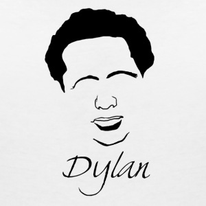 Dylan Thomas Silhouette - Women's V-Neck T-Shirt