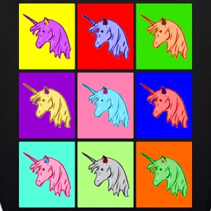 Pop Art Einhorn, Pop Art Unicorn Bags & Backpacks - EarthPositive Tote Bag