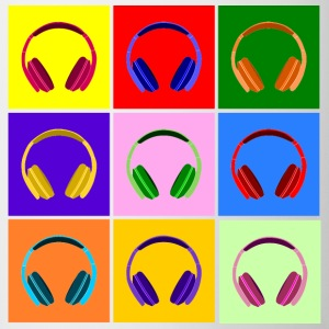 Pop Art Kopfhörer, Pop Art Headphones Kubki i dodatki - Kubek