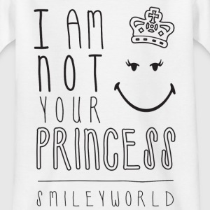 SmileyWorld I am not your Princess - Maglietta per ragazzi
