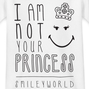 SmileyWorld I am not your Princess - T-skjorte for tenåringer
