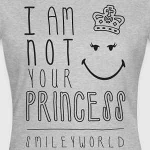 SmileyWorld I am not your Princess - T-skjorte for kvinner