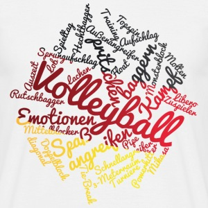 VolleyballFREAK-cloud-deutschland M - Männer T-Shirt
