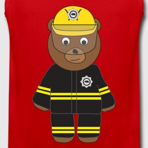 Firefighter Bear tank - Men's Premium Tank Top