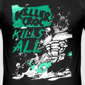 Suicide Squad Killer Croc Kills All - Männer Slim Fit T-Shirt
