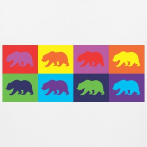 Warhol Bear tank - Men's Premium Tank Top
