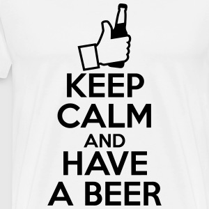 KEEP CALM AND HAVE A BEER - Koszulka męska Premium