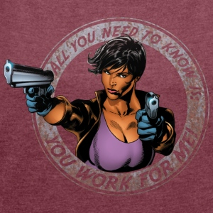Suicide Squad Amanda 'All you need to know' - T-shirt med upprullade ärmar dam