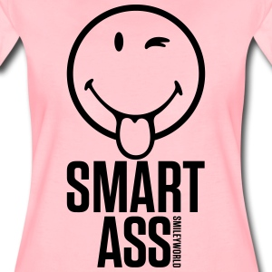 SmileyWorld Smart Ass - Premium T-skjorte for kvinner