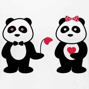 Panda in love - Frauen Premium T-Shirt