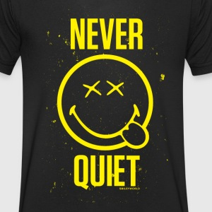 SmileyWorld Never Quiet Smiley - Men's V-Neck T-Shirt