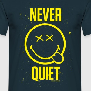 SmileyWorld Never Quiet Smiley - Men's T-Shirt