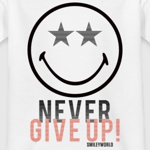 SmileyWorld Never Give Up Gib Nie Auf - Teenager T-Shirt