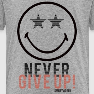 SmileyWorld Never Give Up Gib Nie Auf - Teenager Premium T-Shirt