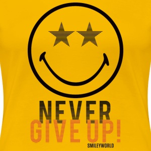 SmileyWorld Never Give Up Gib Nie Auf - Frauen Premium T-Shirt