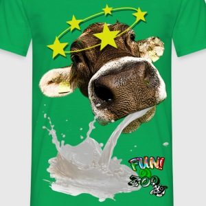 TROW UP COW ! (BLACK) - Men's T-Shirt
