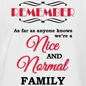 Remember we're a nice and normal family T-shirts - Mannen baseballshirt korte mouw