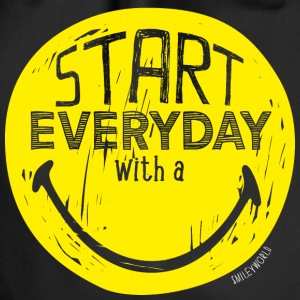 SmileyWorld Start everyday with a Smile - Turnbeutel