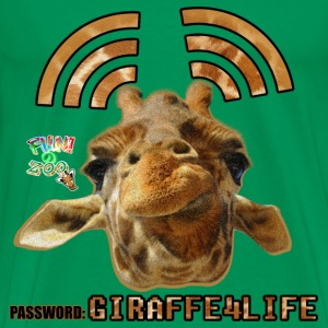 GIRAFFE4LIFE ! (WHITE) - Men's Premium T-Shirt