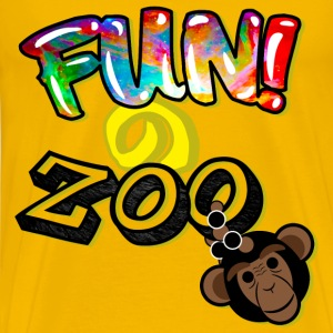 FUNのZOO CHIMP (BLACK) - Men's Premium T-Shirt