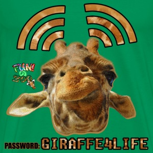 GIRAFFE4LIFE ! (BLACK) - Men's Premium T-Shirt