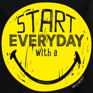 SmileyWorld Start everyday with a Smile - T-shirt Ado