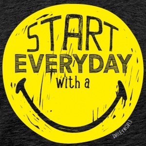 SmileyWorld Start everyday with a Smile - Men's Premium T-Shirt