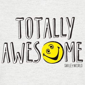 SmileyWorld Totally Awesome - Männer T-Shirt mit V-Ausschnitt