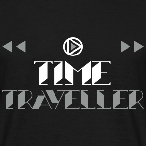 Time Traveller - Old Fashioned Style w. Icons 2C T-Shirts - Männer T-Shirt