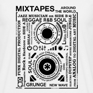 Genres of a mixtape - Fontart Audio cassette T-Shirts - Men's T-Shirt