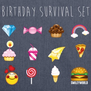 SmileyWorld Birthday Survival Set - Axelväska av återvinningsmaterial