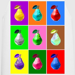 Pop Art Birne, Pop Art Pear Delantales - Delantal de cocina