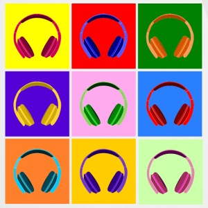 Pop Art Kopfhörer, Pop Art Headphones Delantales - Delantal de cocina
