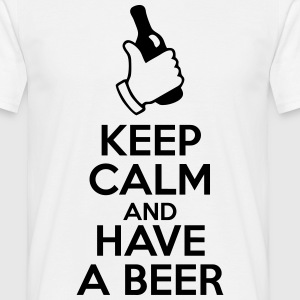 keep calm and have a beer Tee shirts - T-shirt Homme