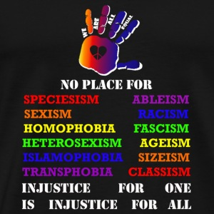 Fight against inequality! Intersectional veganism T-Shirts - Men's Premium T-Shirt