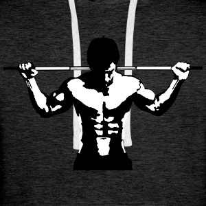 Haltérophilie musculation Art Design Sweat-shirts - Sweat-shirt à capuche Premium pour hommes