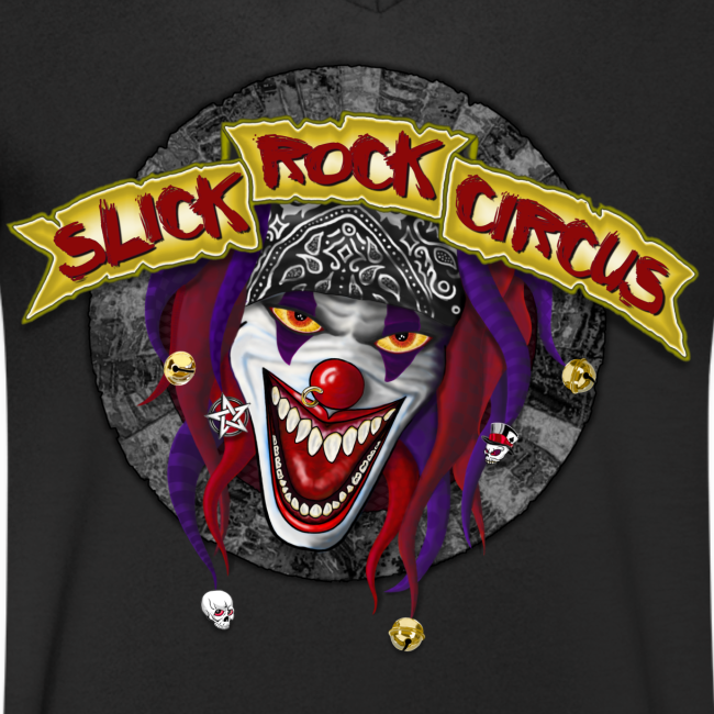 Slick Rock Circus - Evil Clown Crackless Shirt, V-Neck