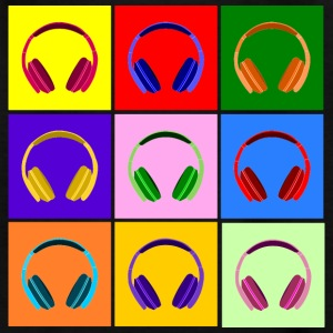 Pop Art Kopfhörer, Pop Art Headphones Skjorter - T-skjorte for barn