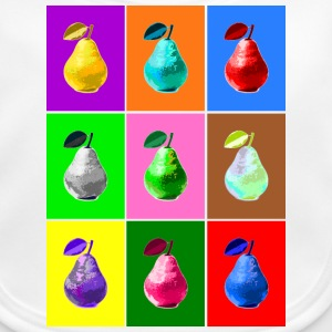 Pop Art Birne, Pop Art Pear Babyhaklapp - Ekologisk babyhaklapp